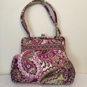 Vera Bradley 14 x 12 x 4 pink and purple bag